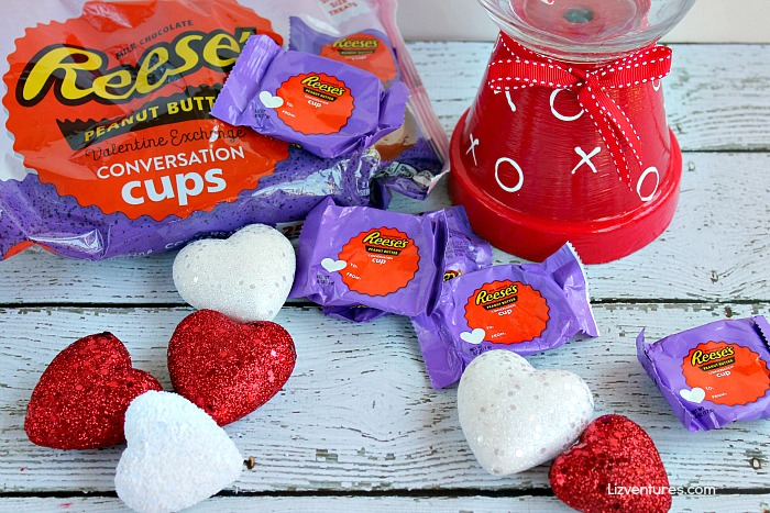 Valentine's Day candy jar and candy