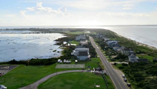 ocean view from Oak Island Lighthouse - Brunswick Islands