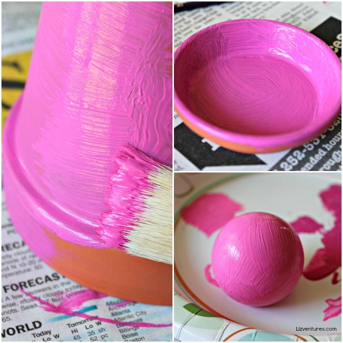 paint clay pot and saucer