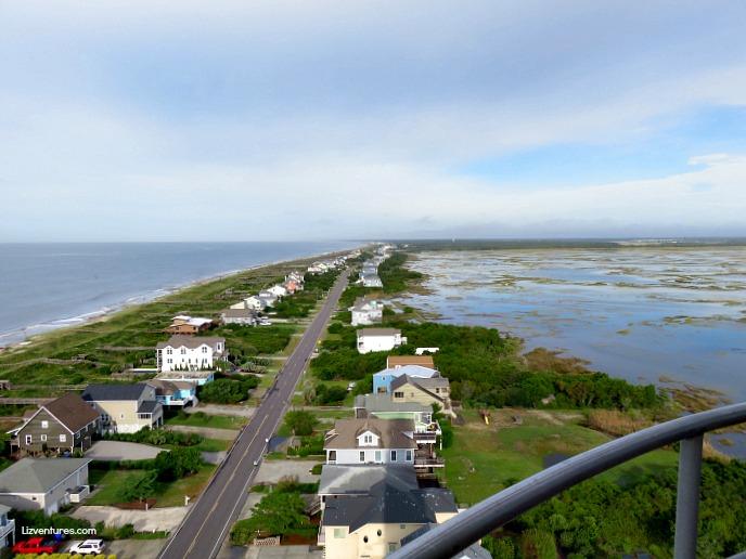 view from Oak Island Lighthouse - Brunswick Islands