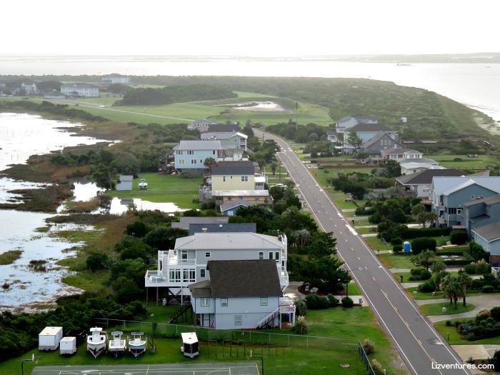 view of Oak Island from Oak Island Lighthouse