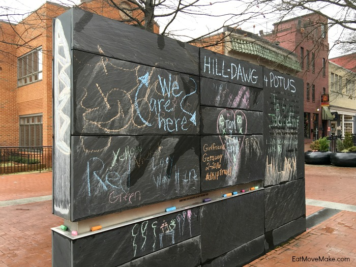 Community Chalkboard - Freedom of Speech Wall - Downtown Mall Charlottesville VA
