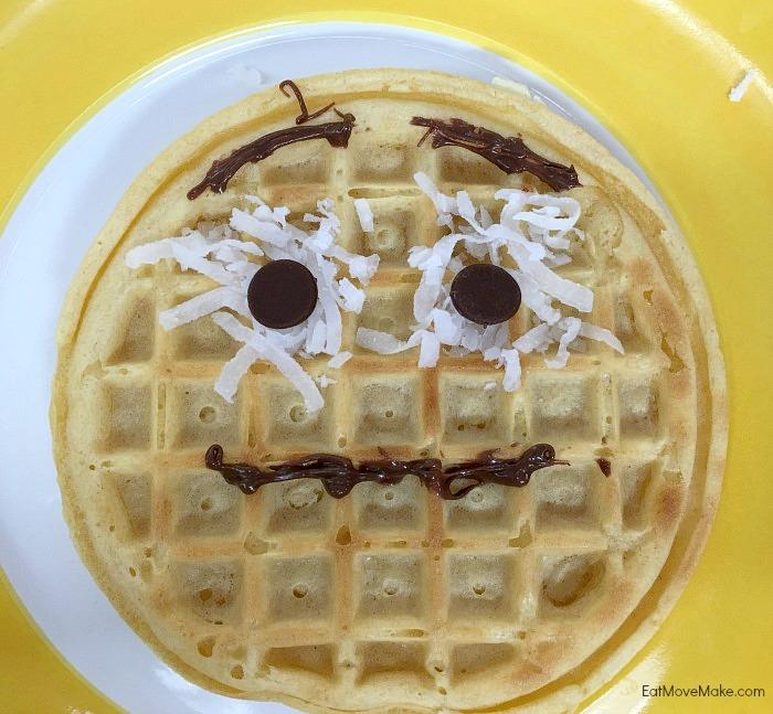 Eggoji waffle - worried emoji