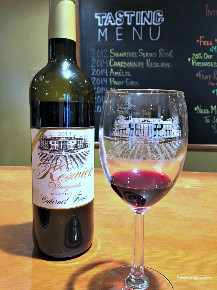 Keswick Vineyards Cabernet Franc - 2016 Virginia Governor's Cup winner