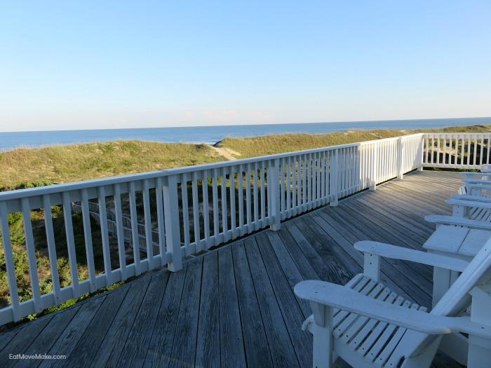 Outer Banks beach house balcony - Avon NC
