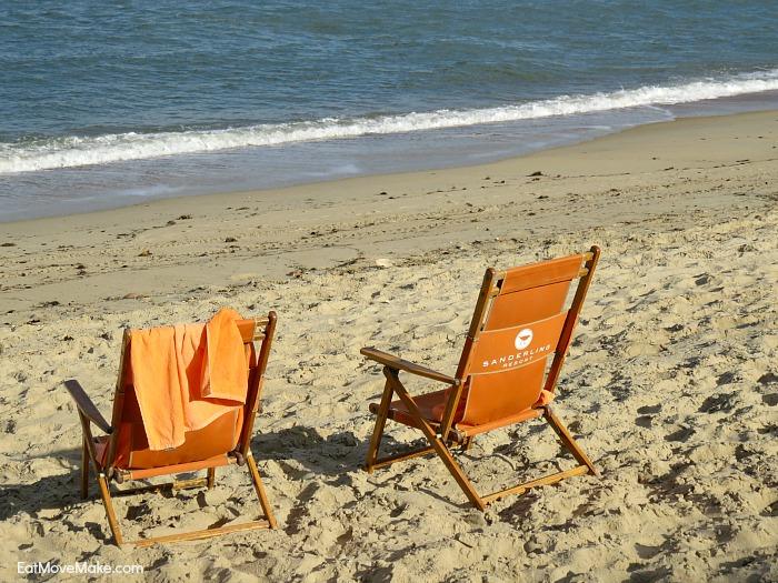 Sanderling Resort beach chairs on beach