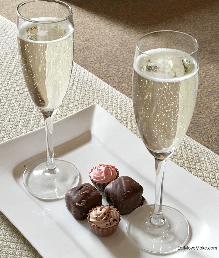 chocolates and sips