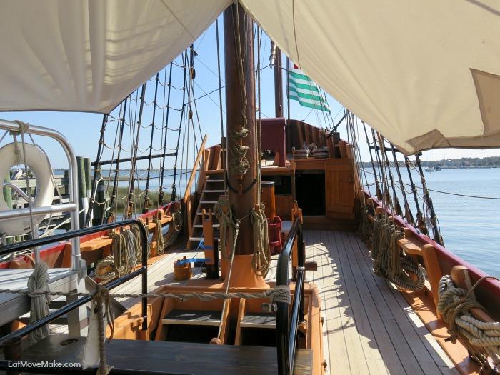 deck of the Elizabeth II - Roanoke Island Festival Park