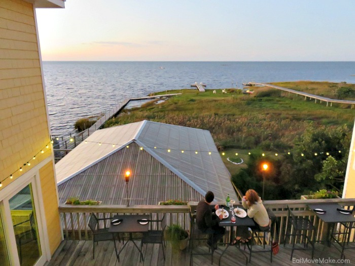 deck overlooking the sound at Inn at Pamlico Bay and Cafe Pamlico - Outer Banks NC