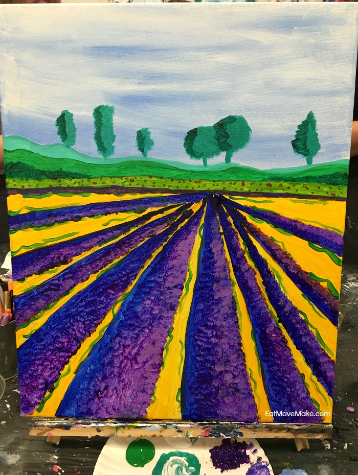 finished painting - Wine & Design Charlottesville Virginia