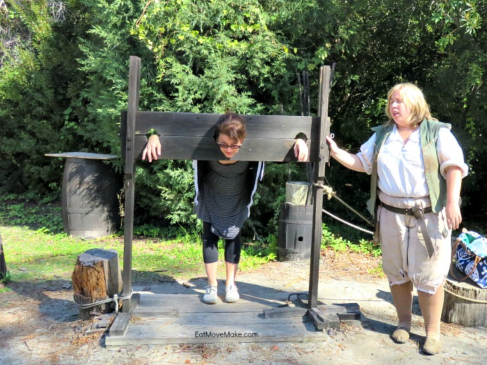 me in the pillory - Roanoke Island Festival Park