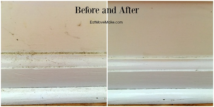 spring cleaning baseboards