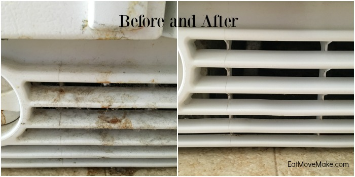 spring cleaning refrigerator grille