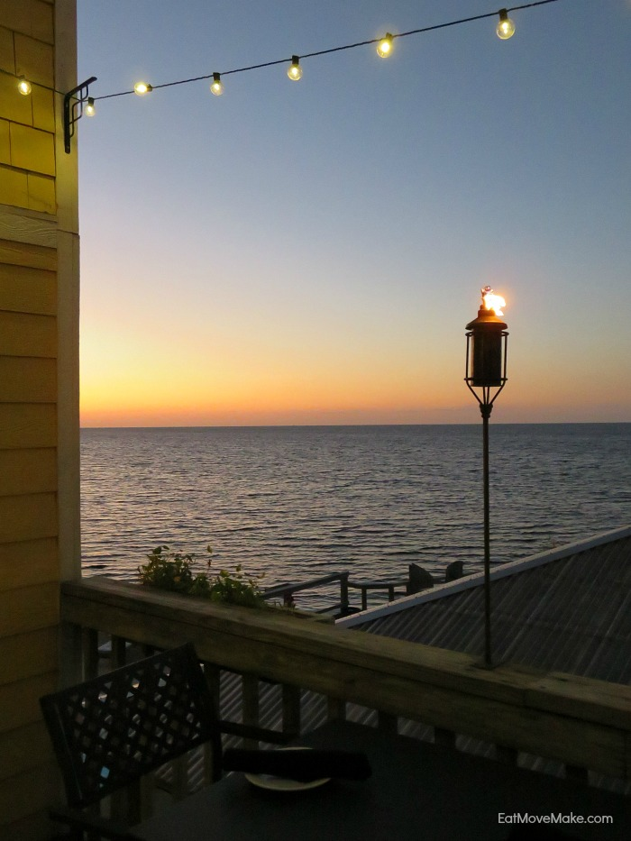 sunset at the Inn on Pamlico Sound - Buxton NC Outer Banks NC