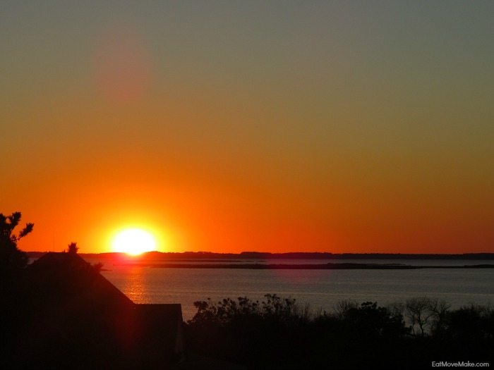 sunset over Currituck Sound - Outer Banks NC