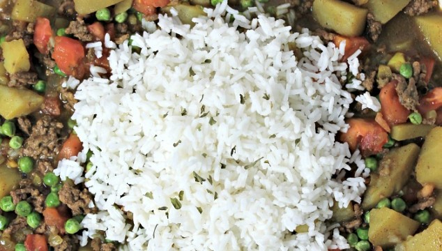 Curried Beef with Rice recipe