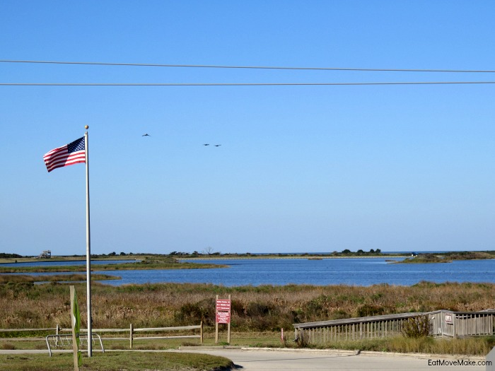 North Pond and wildlife trail - Pea Island wildlife refuge