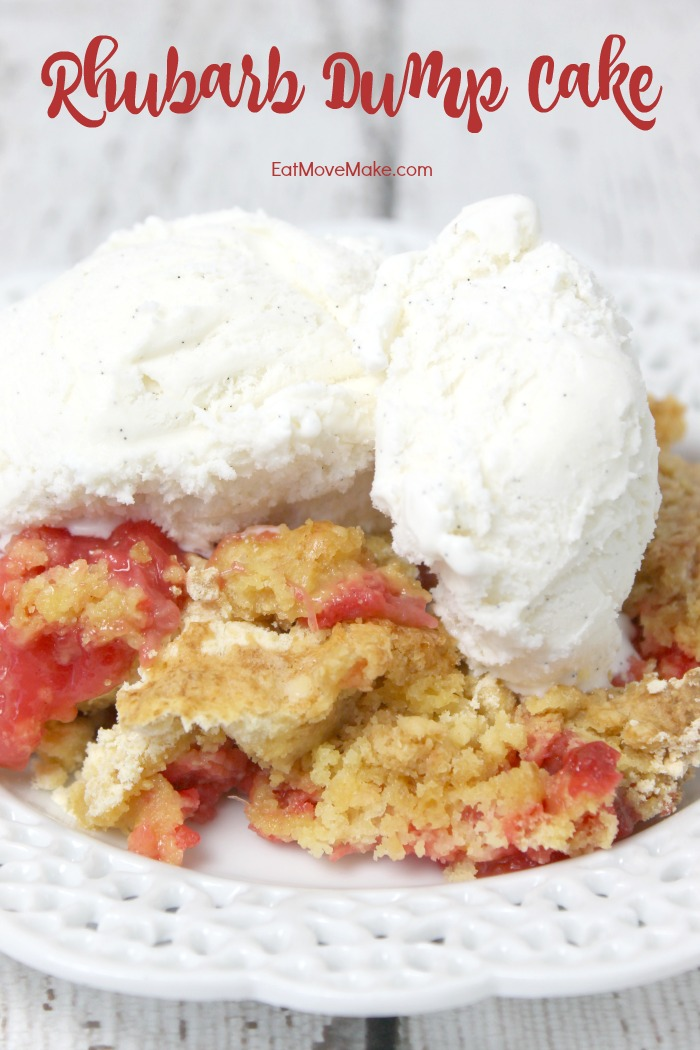 Rhubarb Dump Cake recipe - a perfect spring recipe