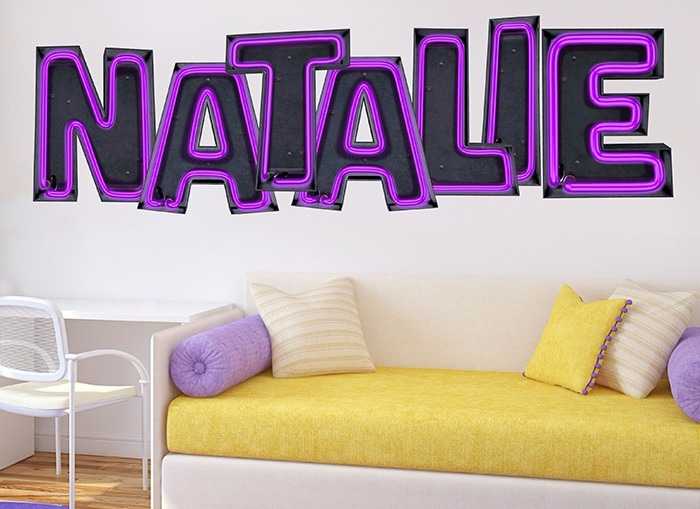 neon font wall art wall stickers from Wall-ah