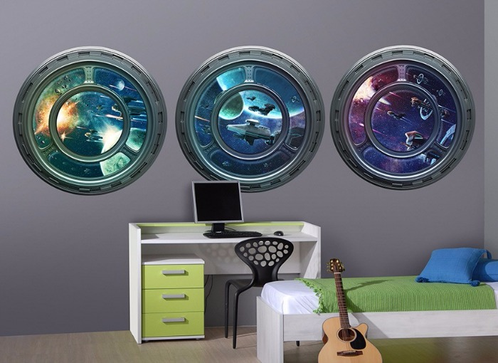 space station windows wall art - Wall-Ah