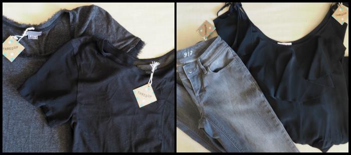 thredUP shirts jeans jumpsuit