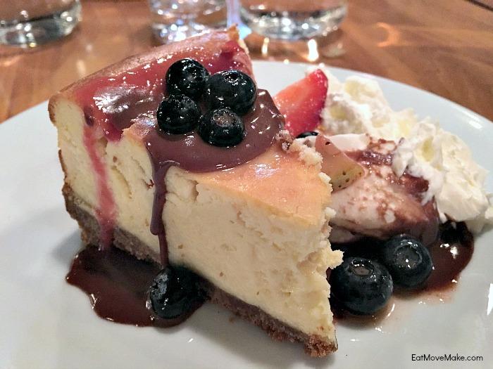 Commonwealth Skybar & Restaurant - Charlottesville VA - cheesecake dessert