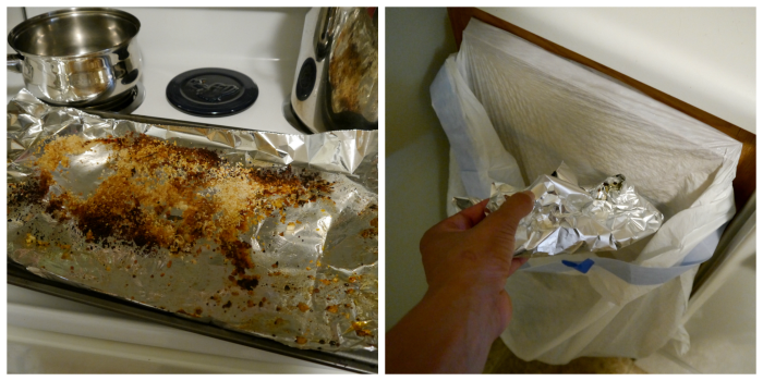Easy clean up with foil
