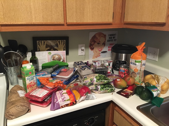 Post-competition grocery haul