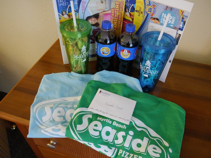Sea Watch Resort welcome package