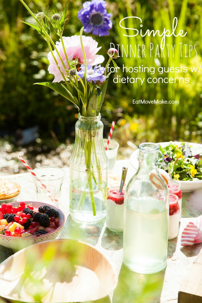 Simple dinner party tips for hosting guests with dietary concerns