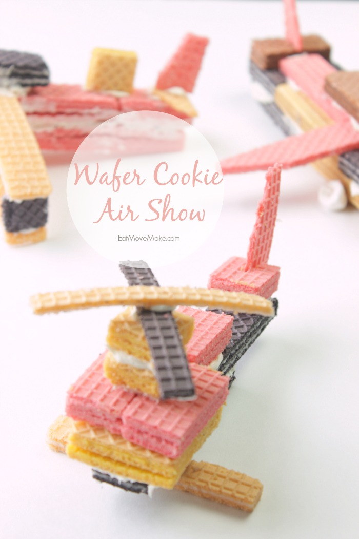 Wafer cookie helicopter and airplanes - wafer cookie air show