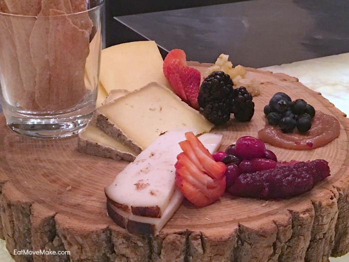fruit and cheese platter - Clifton Inn Restaurant - Charlottesville VA