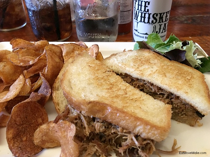 pulled pork sandwich - The Whiskey Jar Columbia SC