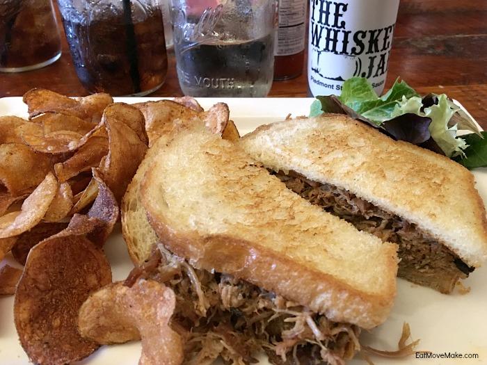 pulled pork sandwich - The Whiskey Jar Columbia SC