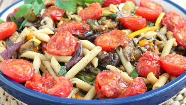 Grilled Summertime Veggies with Pasta