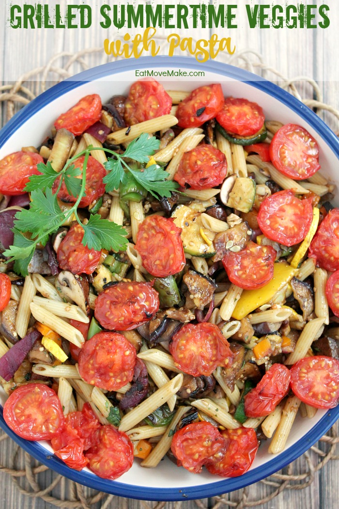 Grilled Summertime Veggies with Pasta recipe