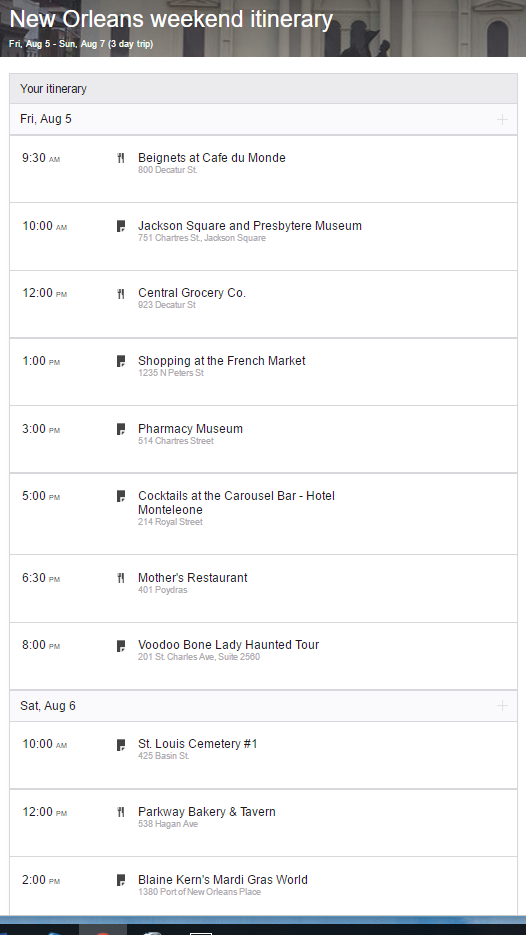 New Orleans weekend itinerary