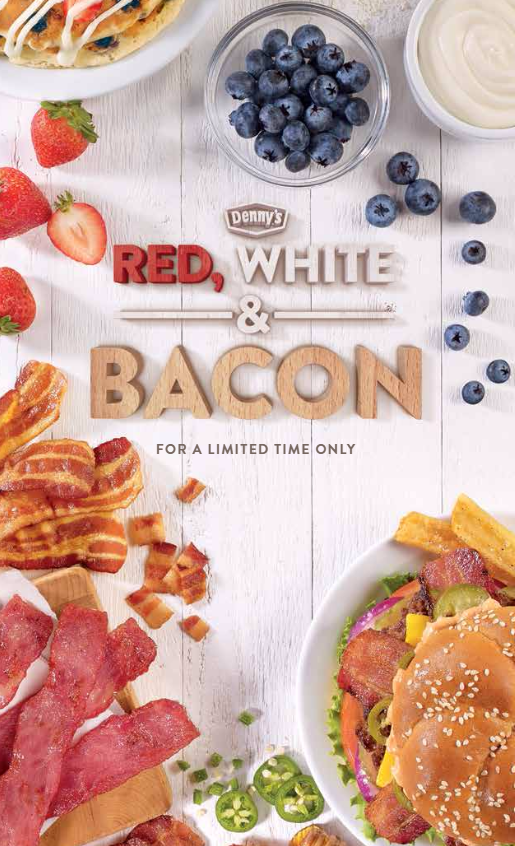 Red White and Bacon menu