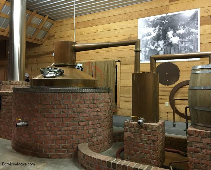 old-timey still at Broadslab Distillery - Benson NC
