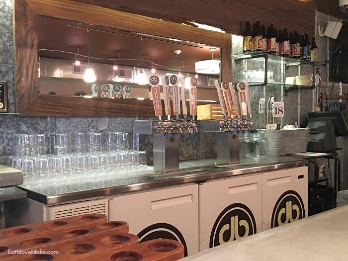 Double Barley taproom bar