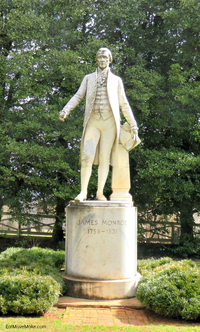 James Monroe statue - Ashlawn-Highland