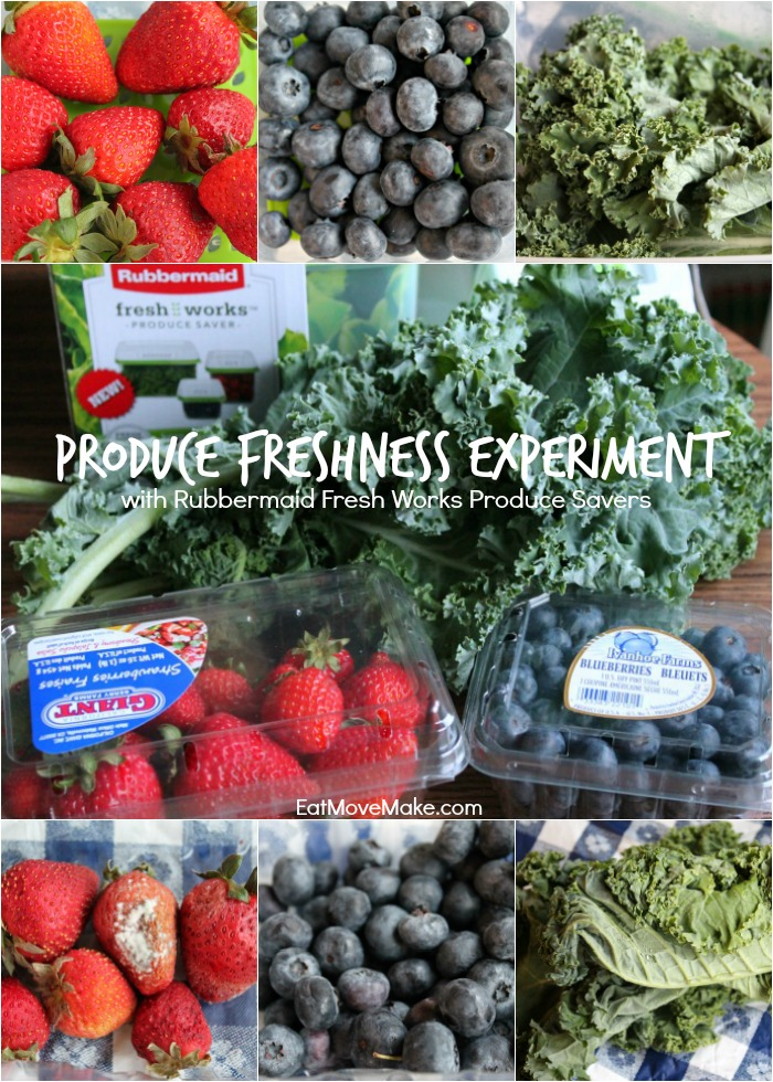 Produce Freshness Experiment with Rubbermaid Fresh Works Produce Savers