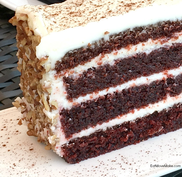 Red velvet cake at Juls - Tyler TX