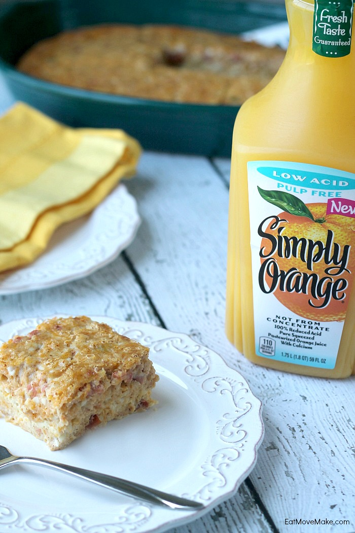 Tex-Mex Breakfast Bake - Simply Orange Low Acid orange juice