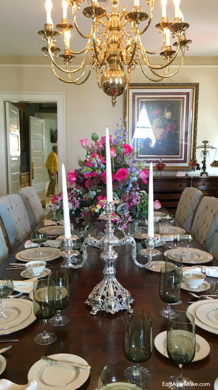 dining room table - Historic Garden Week - Fort Monroe