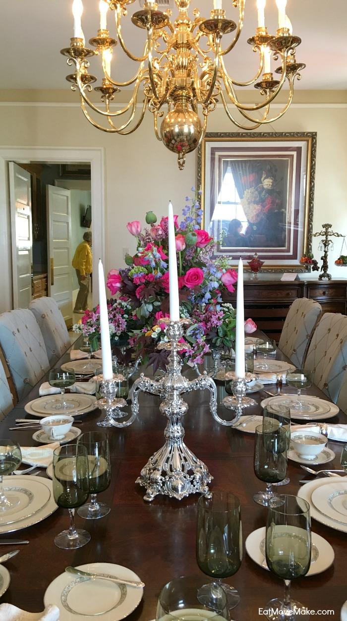dining room table - Historic Garden Week - Fort Monroe