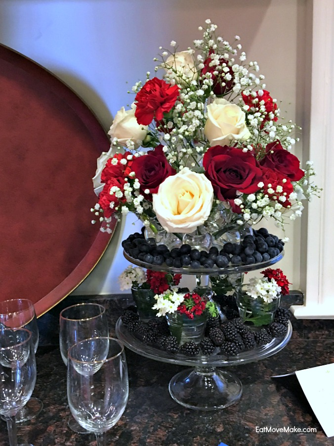 floral and fruit display - Historic Garden Week at Fort Monroe