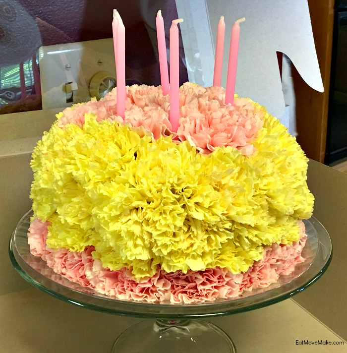floral birthday cake - Historic Garden Week - Fort Monroe