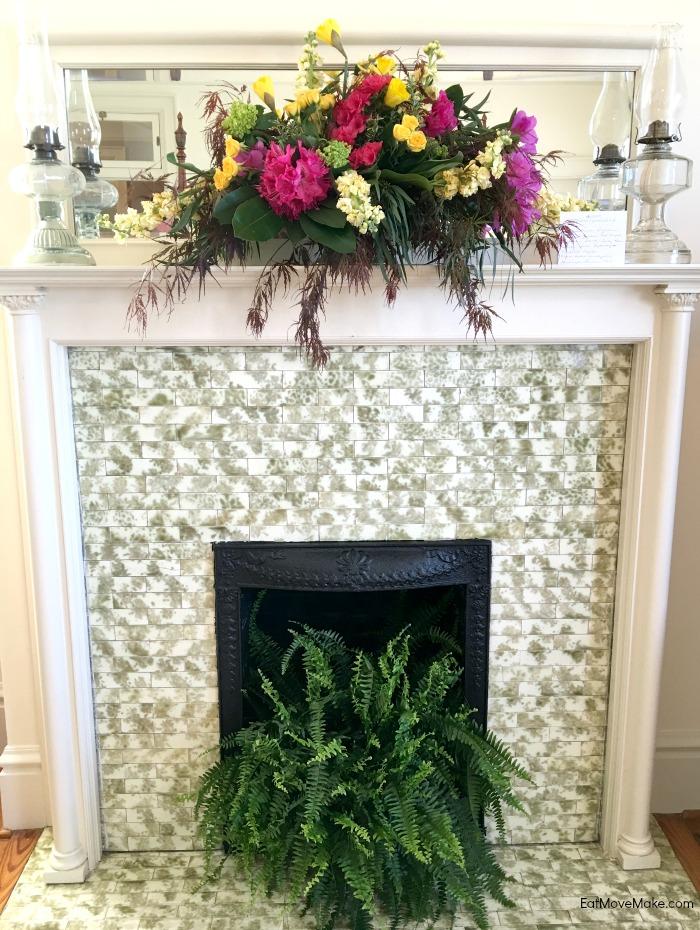 floral displays during Historic Garden Week at Fort Monroe
