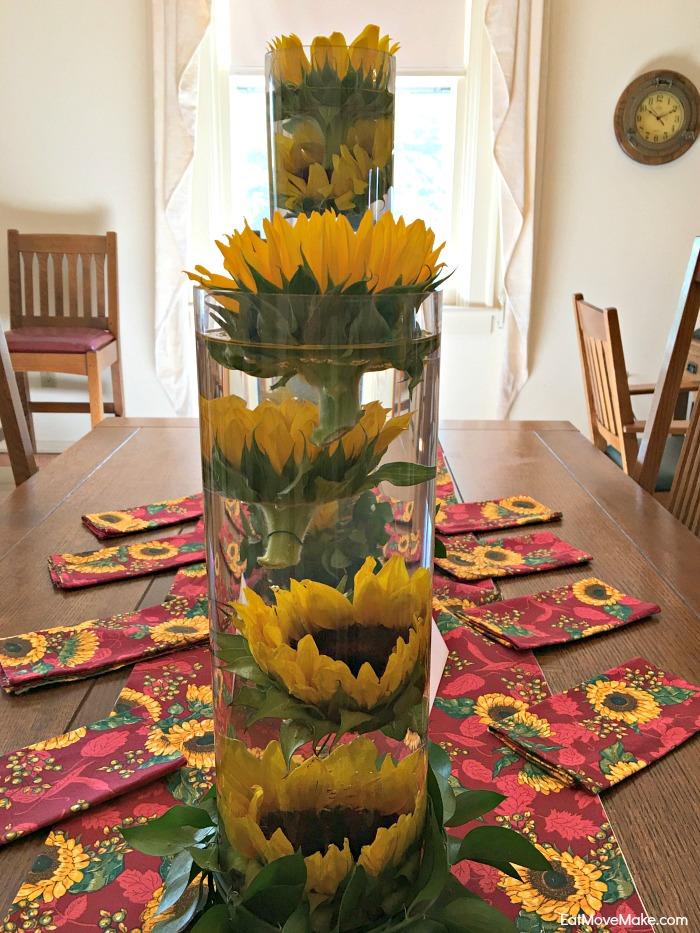 sunflower arrangement - Historic Garden Week Fort Monroe